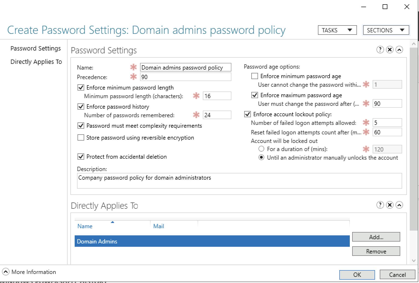 How-to: Configure password policies in Active Directory